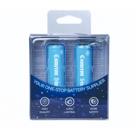 Lot de 2 piles rechargeables (Type 14500 / 700 mAh)