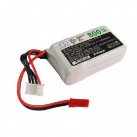 Batterie RC Li-Polymer 800mAh 11,1V compatible LP8003C30RT