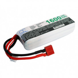 Batterie RC Li-Polymer 1600mAh 11,1V compatible LP1603C30RT