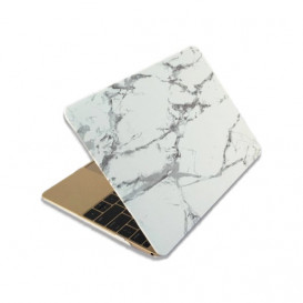 Coque soft touch style marbre MacBook 12'' Marbre Clair