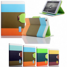 Etui portefeuille Rainbow iPad Mini