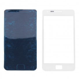 Vitre Blanche + Stickers - Galaxy S2