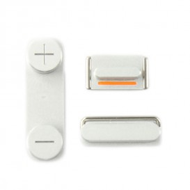 Set of 3 white buttons (Volume, vibrate ring switch, power) - iPhone 5