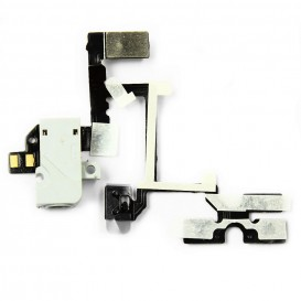 Jack plug, vibrate ring switch, volume button flex cable - iPhone 4 (white)