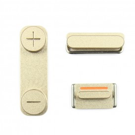 Kit of 3 GOLD Buttons (volume, mute, power) - iPhone 5S