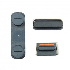 Kit of 3 BLACK Buttons (volume, mute, power) - iPhone 5S