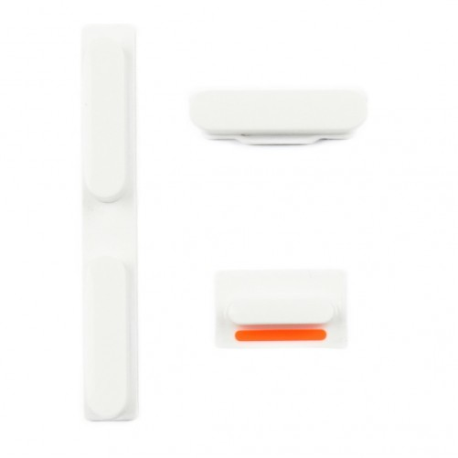 Kit Boutons Blanc: Power, Silencieux, Volume - iPhone 5C