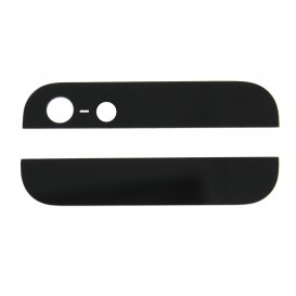BLACK Top and Bottom plastic rear covers - iPhone 5