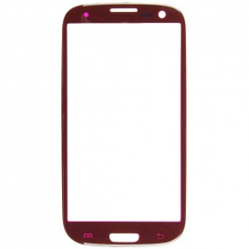 Vitre Rouge + Stickers - Samsung Galaxy S3