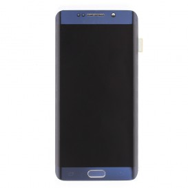 Complete Screen BLACK (LCD + Touchscreen + Frame) + Charging port connector - Galaxy S6 Edge Plus