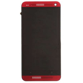 Complete Screen Assembly RED - HTC One (M7)