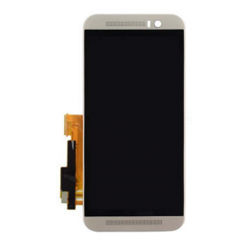 Complete screen SILVER (LCD + Touchscreen) - HTC One (M9)