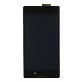 Complete Screen Assembly BLACK (LCD + Touchscreen + Frame) - Xperia M4 Aqua