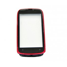 Touch screen (red) + Frame - Lumia 610