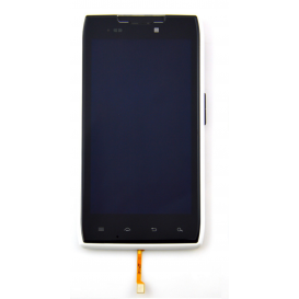 Complete Screen Assembly WHITE (LCD + touchscreen) - Razr XT910