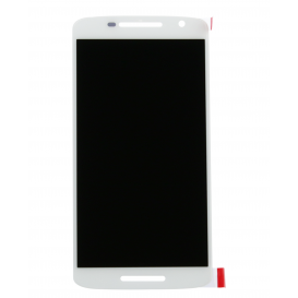 Complete Screen Assembly WHITE (LCD + touchscreen) - Moto X Play