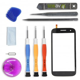 DIY Touch Screen Repair Kit (black) - Wiko Cink Five
