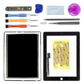 Black LCD and touch screen repair kit - iPad 3 / 4