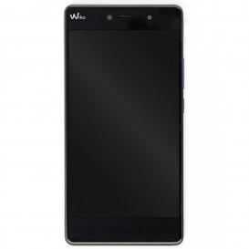 Complete screen GREY & BLACK (LCD + Touchscreen + Frame) - Wiko Fever 4G