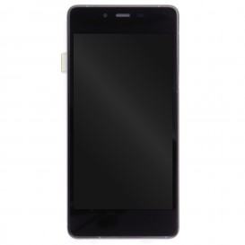 Complete Screen BLACK & BLEEN (LCD + Touchscreen + Frame) (Official) - Wiko Highway Pure