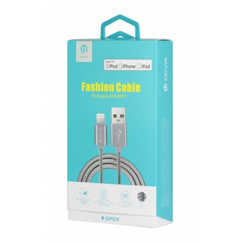 MFI braided lightning cable (1 meter)