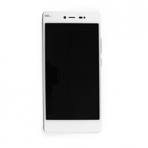 Ecran complet Blanc (LCD + tactile) + châssis rouge (officiels) - Wiko Fever Special Edition