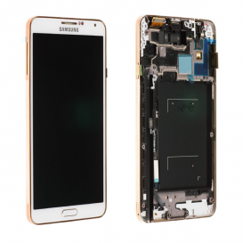 Official White/Gold Screen (LCD + Touch screen) - Galaxy Note 3