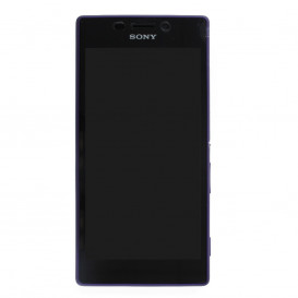 Complete Screen Assembly PURPLE (LCD + Touchscreen + Frame) (Official)- Xperia M2