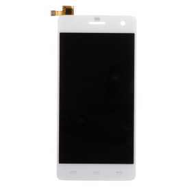 Complete Screen WHITE (LCD + touchscreen + Frame)  - Wiko Highway Signs