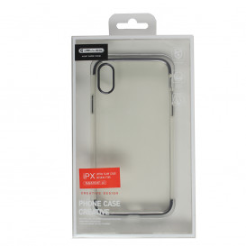 Coque TPU Ultra fine transparente / noire - iPhone X / XS