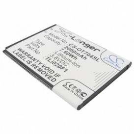 Batterie Alcatel compatible 5044D, 5044R, 5044W, 5044Y, A450TL, Cameo X 5044R, One Touch 7040, One Touch 7040D, One Touch 704
