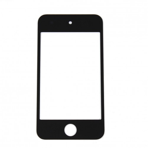 Front glass panel (black) - iPod Touch 4G